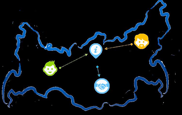 Карта россии со схемой