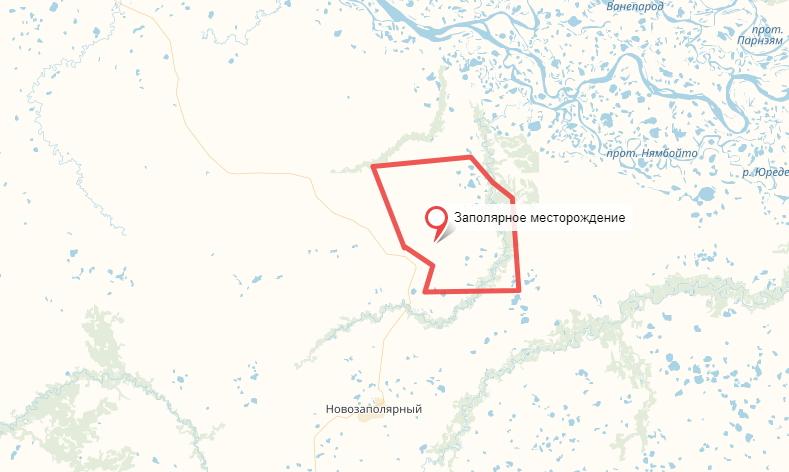 Заполярное месторождение фотография яндекс карты